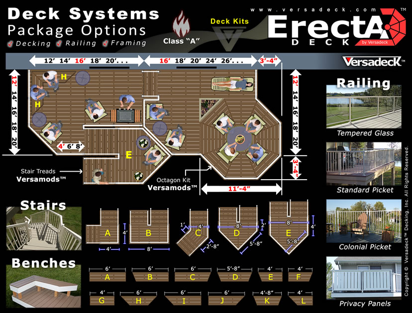 ErectADeck� Deck Kits by Versadeck Decking - Noncombustible Deck System