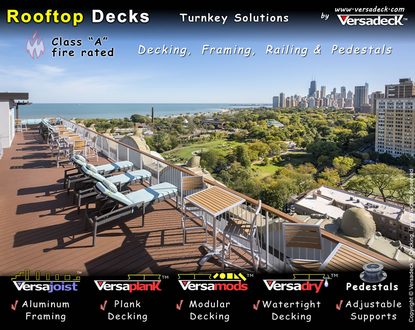 Rooftop Deck Systems by Versadeck Decking