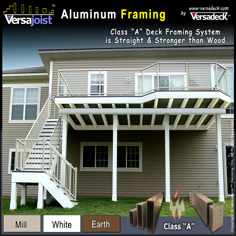 VersaJoist Aluminum Deck Framing by Versadeck Decking