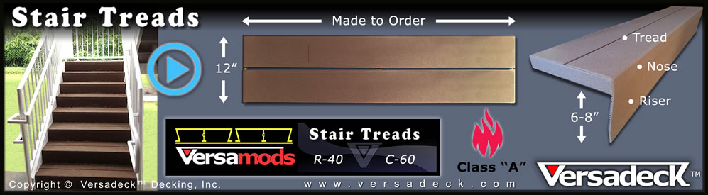 Modular Stair Treads by Versadeck Decking
