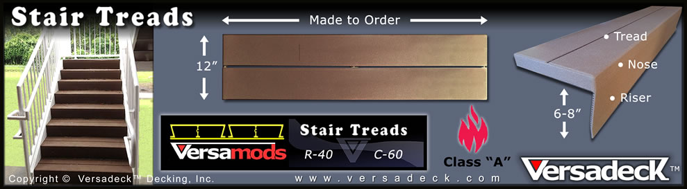Aluminum Stair Treads by Versadeck Decking